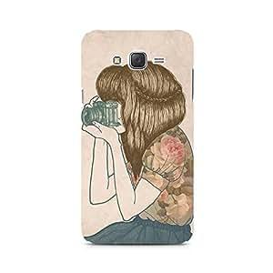 Mobicture Girl Abstract Premium Designer Mobile Back Case Cover For Samsung J5