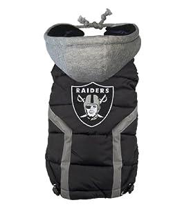 NFL Oakland Raiders Dog Puffer Vest, 3X-Large by FURocious Fan - Little Earth