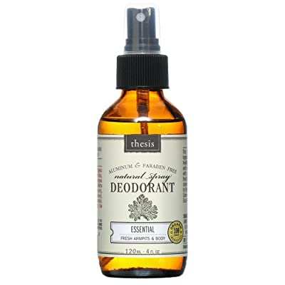 All Natural Deodorant Spray made with 100% organic ingredients, Long Lasting Protection, Non Toxic, Paraben & Aluminum Free, 4 fl.oz / 120 ml