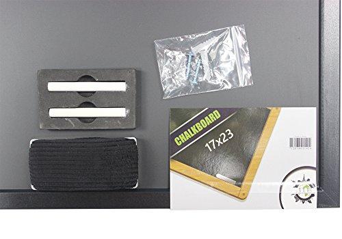17 x 23 Chalkboard | Elegant Wooden Black Matte Frame | Magnetic Eraser, Magnetic Chalkboard Holder & 2 Pieces Of Chalk | For Kids Bedroom, Restaurants, Bars, Classrooms & Office