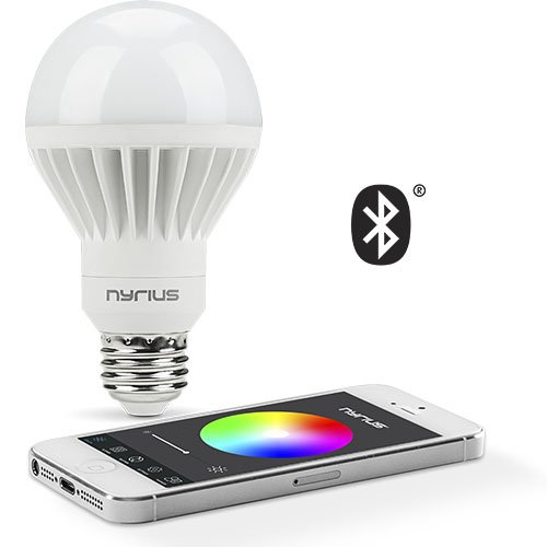 Nyrius Wireless Smart LED Multicolor Light Bulb for Smartphones & Tablets - iOS & Android App Remotely Controls On/Off, Schedule & Dimming Function - Bluetooth Energy Efficient Home Automation (SB10) (Bluetooth Lightbulbs compare prices)
