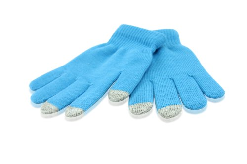 Smart Stylus Winter Gloves (LIGHT BLUE) For Apple iPhone, iPod, iPod Touch, Sony S1 Samsung Galaxy Tab Asus Transformer HP TouchPad Acer Iconia Kindle Fire VIZIO Tabllet and NEW IPAD 3 by SecondShells