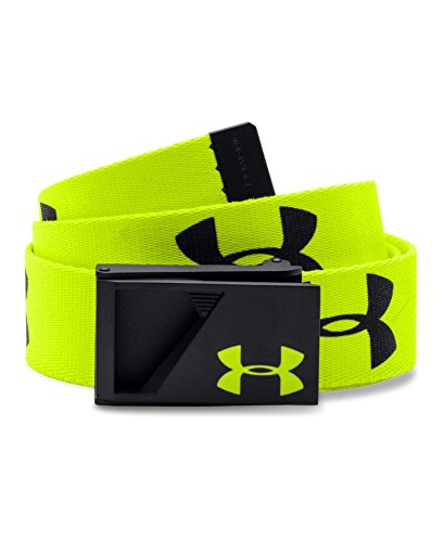 Under Armour Boys Range Webbing Belt, High-Vis Yellow/Black/High-Vis Yellow, One Size