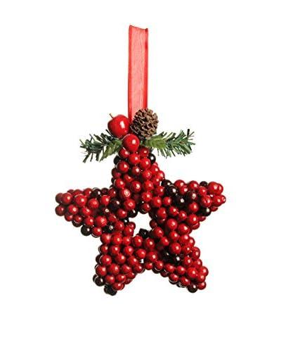 Evergreens Colgante Árbol Hanging Star Rojo