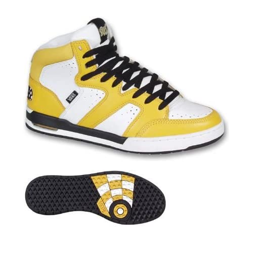 Amazon.com: Vans Dr. T Hi Yellow/White/Black