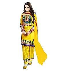 Lakshmi Fashion Creation Women's Cotton Dress Material ( Yellow )
