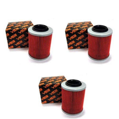 2012-2016 CAN AM Outlander 1000 Oil Filter - (3 pieces) (Can Am Oil Filter compare prices)