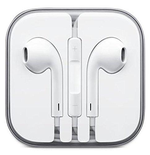 White Stereo Bass Headphone Mic Volume Control Remote Earphone In-Ear Headphone Headset For Iphone 4S 5 Ipad 2 3 4