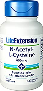 Life Extension N-Acetyl Cysteine 600 Mg, 60 vegetarian caps