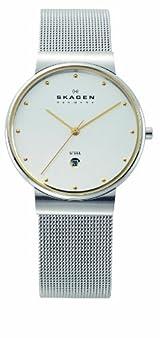 Skagen Men's 355LGSC Two-Tone Mesh Band Watch