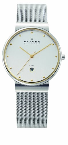 Skagen Men's 355LGSC Two-Tone Mesh Band Watch