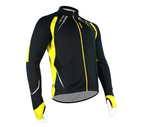 SANTIC Cycling Fleece Thermal Long Jersey Winter Jacket Yellow-Gabriel XXL (Thermal Bicycle Jacket compare prices)
