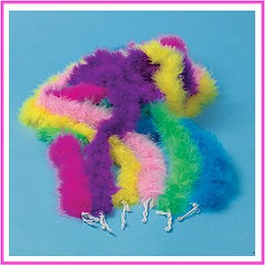 Assorted Mini Marabou Diva Dress Up Boas (1 dz)