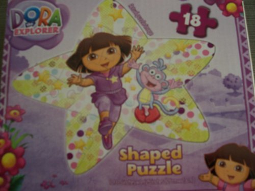 Dora The Explorer - Shaped Jigsaw Puzzle - Star Shaped - 18 Pieces - 1