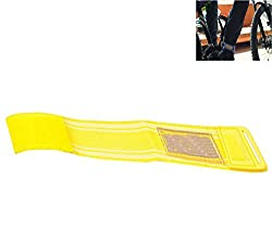 Futaba MTB Reflective Safe Leg Pants Clip Strap Beam Belt - Yellow