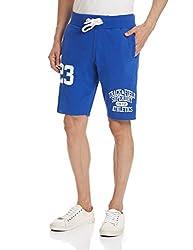 Superdry Men's Cotton Shorts (5054265361067_M71MX005L_X-Large_Mazarine Blue)