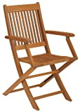 Strathwood Basics Folding Hardwood Armchair, Set of 2