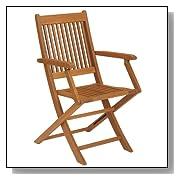 Basic Outdoor Folding Hardwood Armchair