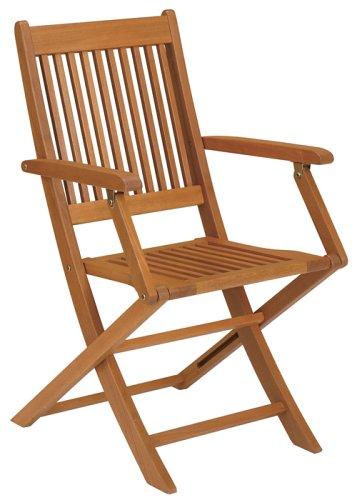 Strathwood Basics Folding Hardwood Armchair, Set of 2