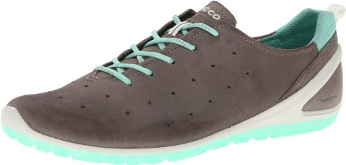 Ecco ECCO BIOM LITE Trainers Womens Gray Grau (Warm Grey/Emerald 57808) Size: 7 (41 EU)