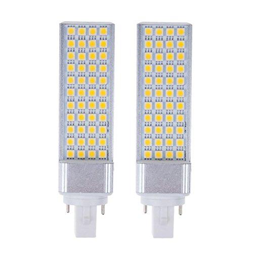 How Nice 9W Led Corn Light Bulb Lamp G24 44Led 5050 Smd Energy Saving Cool White Equivalent Halogen 40W Bulb -Pack Of 2