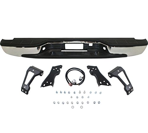 Make Auto Parts Manufacturing - Silverado Rear Step Bumper Chrome With Brackets Light Kit Bolts Bar GM1103122 - 99-06 Silverado Fleetside 1500 (Silverado Bumper compare prices)
