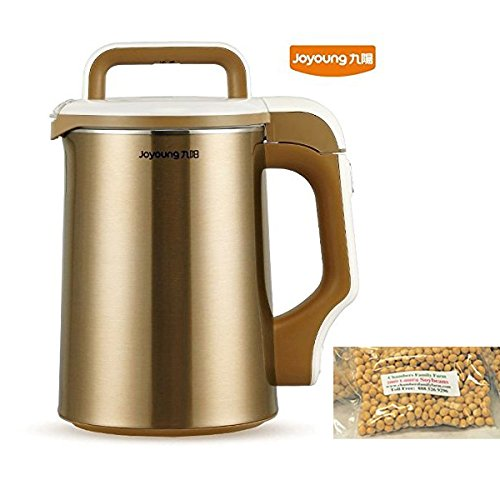 BONUS PACK! Joyoung DJ13U-D81SG Easy-Clean Automatic Hot Soy Milk Maker with FREE Soybean Bonus Pack