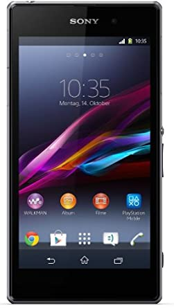 Sony Xperia Z1 Smartphone (12,7 cm (5 Zoll) Full-HD-TRILUMINOS-Display, Touchscreen,  2,2 GHz-Quad-Core-Prozessor (Qualcomm), 2 GB RAM, 16GB Speicher, 20,7 Megapixel-Kamera, Android 4.2) schwarz