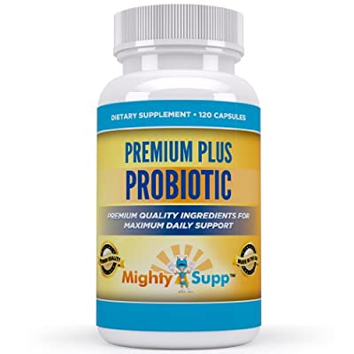 Probiotic - Best Daily Probiotic Supplement For Fast Relief of Stomach Bloating And Discomfort From Gas - Free Ebook Included - Perfect for Men Women and Children - 120 Capsules - 6 Billion Lactobacillus Acidophilus Bifidobacterium Salivarius Bulgaricus B