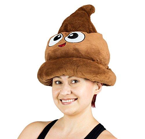 Fiesta-Toys-Emoji-Poop-Plush-Emoticon-Hat-12-Inches