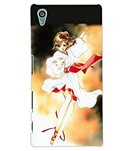 ColourCraft Lovely Girl Design Back Case Cover for SONY XPERIA Z5