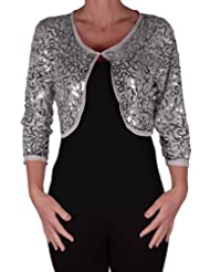 Amazon Co Uk Silver Shrugs Knitwear Clothing