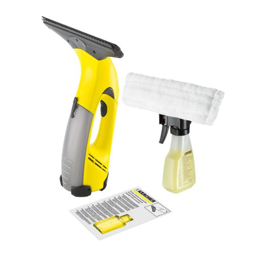 Karcher Wv50plus Window Cleaning Vacuum And Spray Bottle With Microfibre Pad