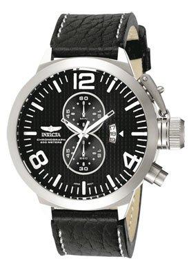 Invicta Men's 3474 Black Leather Chronograph Watch