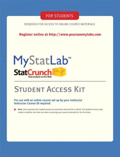 MyMathLab/MyStatLab -- Standalone Access Kit