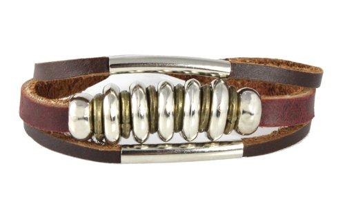 Circlet Design Leather Zen Bracelet for Men, Women, Teen, Student: Gift Boxed