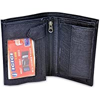 BrownHorse A+ BlackWorld Extra Pockets Mens leather Wallet in Black Color With Nice Fit