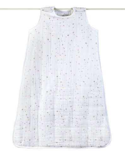 Aden + Anais 100% Cotton Muslin Cozy Plus Sleeping Bag, Lovely, Medium Color: Lovely Size: Medium Newborn, Kid, Child, Childern, Infant, Baby front-538311
