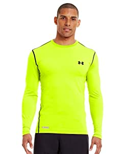 Under Armour Men's HeatGear® Sonic Fitted Long Sleeve Large High-Vis Yellow