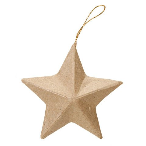 Bulk Buy: Darice DIY Crafts Paper Mache Ornament Star (12-Pack) 2809-10