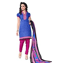 The Ethnic Chic Blue Colored Cotton Suit