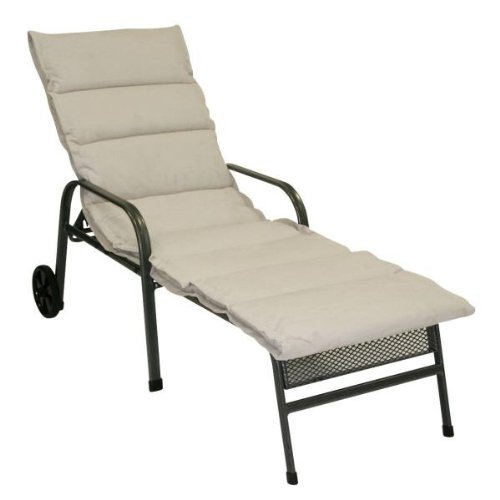 Greemotion 410570 Cushion for Wheeled Lounger 198 x 66 x 4 cm Sand-Coloured
