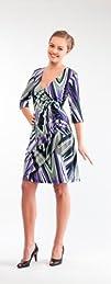 Womens Stunning V-Neck Long Sleeve Wrap Dress