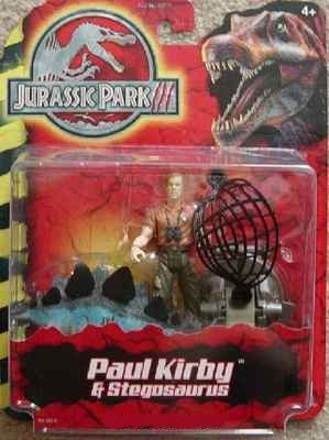 Picture of Hasbro William H. Macy As Paul Kirby Action Figure with Stegosaurus/Military Diver Action Figure with Missile Launcher & Spinosaurus - Jurassic Park III Series - Special Two for One Package (B00280HZ80) (Military Action Figures)