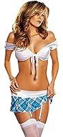 Shmimy Femme Nuisette sous vetement Sexy 1 Set-Taille Unique