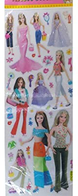 Barbie Sticker Set - Barbie Sticker (22 x 8)