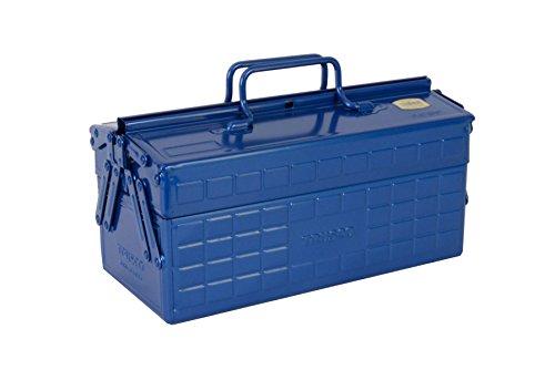 TRUSCO 2段式ツールボックス ブルー W350×D160×H215 ST350B