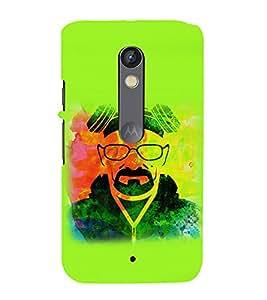 printtech Heisenberg breaking Abstract Back Case Cover for Motorola Moto X Play / Motorola Moto X Play Dual SIM