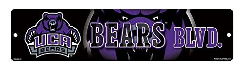 NCAA Central Arkansas Bears High-Res Plastic Street Sign (Central Plastics compare prices)