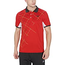 Yonex PM-6-12072-26B16-SR Volume 26 Cut And Sew Polyester Badminton T-Shirt, Men's Small (High Risk Red)